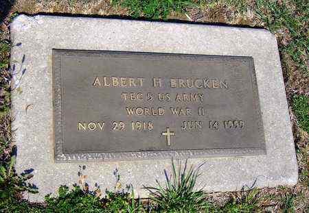 BRUCKEN, ALBERT H  (VETERAN WWII) - Jackson County, Kansas   ALBERT H  (VETERAN WWII) BRUCKEN - Kansas Gravestone Photos