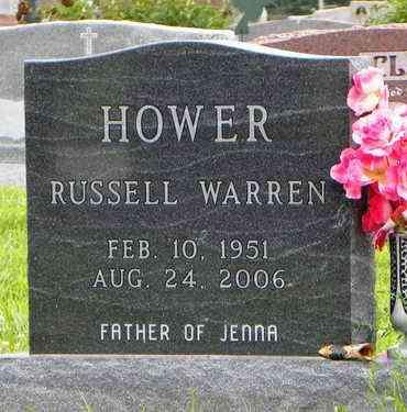 HOWER, RUSSELL WARREN - Jackson County, Kansas | RUSSELL WARREN HOWER - Kansas Gravestone Photos