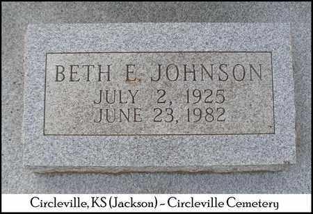 JOHNSON, BETH ELLEN - Jackson County, Kansas | BETH ELLEN JOHNSON - Kansas Gravestone Photos