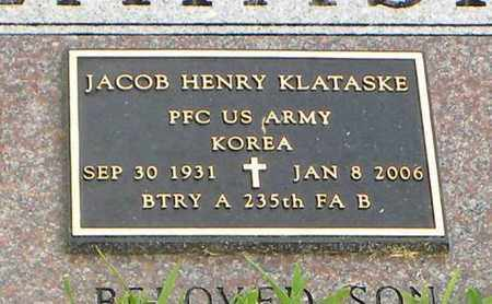 KLATASKE, JACOB HENRY  (VETERAN KOR) - Jackson County, Kansas | JACOB HENRY  (VETERAN KOR) KLATASKE - Kansas Gravestone Photos