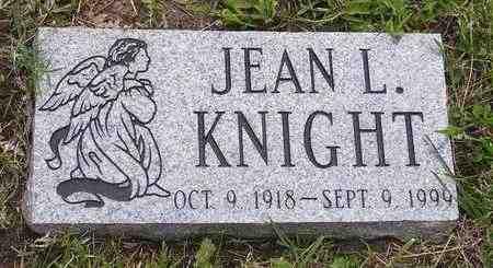 KNIGHT, JEAN L - Jackson County, Kansas | JEAN L KNIGHT - Kansas Gravestone Photos
