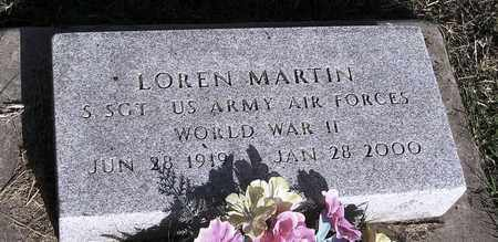 MARTIN, LOREN   (VETERAN WWII) - Jackson County, Kansas   LOREN   (VETERAN WWII) MARTIN - Kansas Gravestone Photos