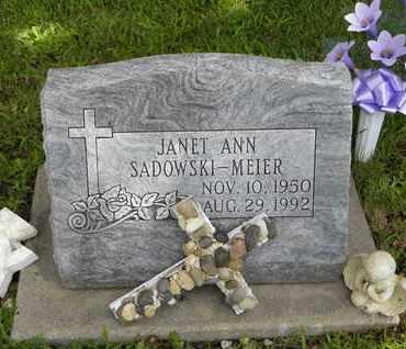 SADOWSKI MEIER, JANET ANN - Jackson County, Kansas | JANET ANN SADOWSKI MEIER - Kansas Gravestone Photos