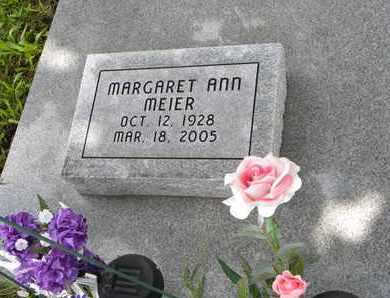 MEIER, MARGARET ANN - Jackson County, Kansas | MARGARET ANN MEIER - Kansas Gravestone Photos