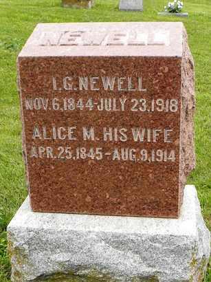 NEWELL, I G - Jackson County, Kansas   I G NEWELL - Kansas Gravestone Photos