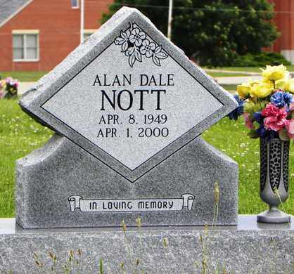 NOTT, ALAN DALE - Jackson County, Kansas | ALAN DALE NOTT - Kansas Gravestone Photos