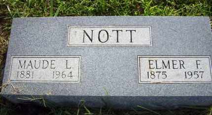 NOTT, ELMER F - Jackson County, Kansas | ELMER F NOTT - Kansas Gravestone Photos