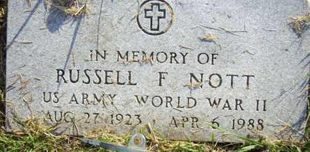 NOTT, RUSSELL F   (VETERAN WWII) - Jackson County, Kansas   RUSSELL F   (VETERAN WWII) NOTT - Kansas Gravestone Photos