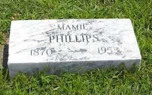 PHILLIPS, MAMIE - Jackson County, Kansas   MAMIE PHILLIPS - Kansas Gravestone Photos