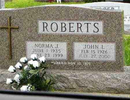 ROBERTS, JOHN L - Jackson County, Kansas | JOHN L ROBERTS - Kansas Gravestone Photos