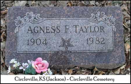 TAYLOR, AGNESS F - Jackson County, Kansas | AGNESS F TAYLOR - Kansas Gravestone Photos