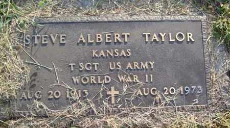TAYLOR, STEVE ALBERT   (VETERAN WWII) - Jackson County, Kansas | STEVE ALBERT   (VETERAN WWII) TAYLOR - Kansas Gravestone Photos