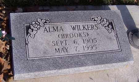 BROOKS WILKERS, ALMA - Jackson County, Kansas | ALMA BROOKS WILKERS - Kansas Gravestone Photos
