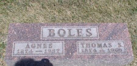 BOLES, THOMAS S - Jefferson County, Kansas | THOMAS S BOLES - Kansas Gravestone Photos