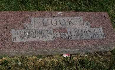 BROOKS COOK, LORRAINE TINY - Jefferson County, Kansas | LORRAINE TINY BROOKS COOK - Kansas Gravestone Photos