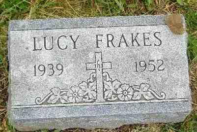 FRAKES, LUCY MARIE - Jefferson County, Kansas | LUCY MARIE FRAKES - Kansas Gravestone Photos