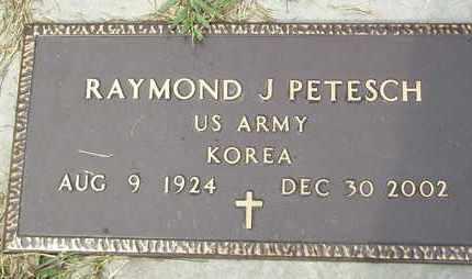PETESCH, RAYMOND J  (VETERAN KOR) - Jefferson County, Kansas | RAYMOND J  (VETERAN KOR) PETESCH - Kansas Gravestone Photos
