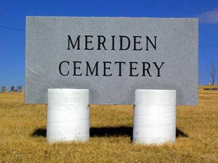 *SIGN, MERIDEN CEMETERY - Jefferson County, Kansas | MERIDEN CEMETERY *SIGN - Kansas Gravestone Photos