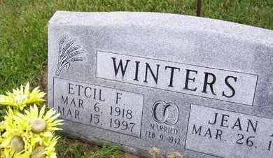 WINTERS, ETCIL F - Jefferson County, Kansas | ETCIL F WINTERS - Kansas Gravestone Photos