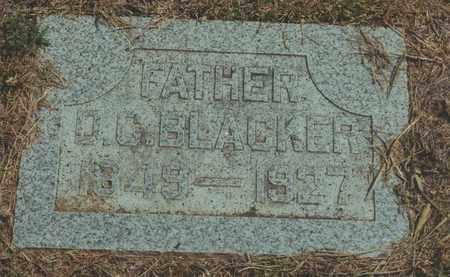 BLACKER, D  C - Jewell County, Kansas | D  C BLACKER - Kansas Gravestone Photos