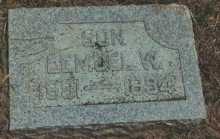 BLACKER, LEMUEL W - Jewell County, Kansas   LEMUEL W BLACKER - Kansas Gravestone Photos
