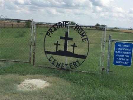 ENTRANCE, PRAIRIE HOME CEMETERY - Jewell County, Kansas   PRAIRIE HOME CEMETERY ENTRANCE - Kansas Gravestone Photos