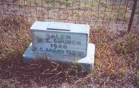 *MEMORIAL, M E CHURCH AT SALEM CEMETERY - Jewell County, Kansas   M E CHURCH AT SALEM CEMETERY *MEMORIAL - Kansas Gravestone Photos