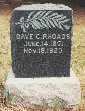 RHOADS, DAVID CROCKET - Jewell County, Kansas | DAVID CROCKET RHOADS - Kansas Gravestone Photos