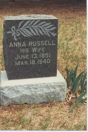 RHOADS, MARY ANNA - Jewell County, Kansas | MARY ANNA RHOADS - Kansas Gravestone Photos