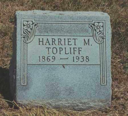 TOPLIFF, HARRIET M - Jewell County, Kansas   HARRIET M TOPLIFF - Kansas Gravestone Photos