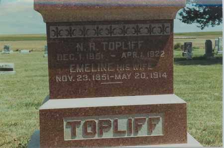 TOPLIFF, EMELINE - Jewell County, Kansas | EMELINE TOPLIFF - Kansas Gravestone Photos