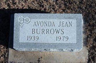 BURROWS, AVONDA JEAN - Kearny County, Kansas   AVONDA JEAN BURROWS - Kansas Gravestone Photos
