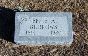 BURROWS, EFFIE ALVERTA - Kearny County, Kansas | EFFIE ALVERTA BURROWS - Kansas Gravestone Photos