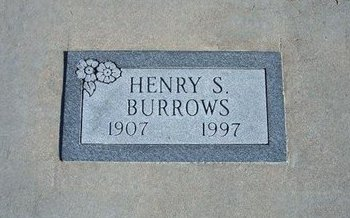 """BURROWS, HENRY S """"HANK"""" - Kearny County, Kansas   HENRY S """"HANK"""" BURROWS - Kansas Gravestone Photos"""