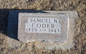 CODER, SAMUEL N - Kearny County, Kansas | SAMUEL N CODER - Kansas Gravestone Photos