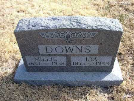 "BATES DOWNS, PERMELIA HARRIET ""MILLIE"" - Kearny County, Kansas 