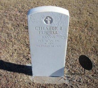 FERRELL, CHESTER I  (VETERAN WWI) - Kearny County, Kansas | CHESTER I  (VETERAN WWI) FERRELL - Kansas Gravestone Photos