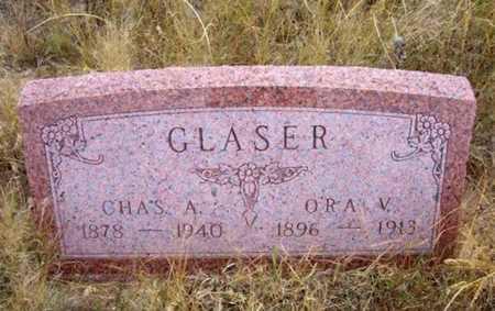 GLASER, ORA V - Kearny County, Kansas | ORA V GLASER - Kansas Gravestone Photos