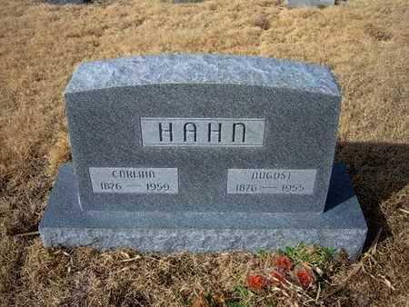 HAHN, CARLINA KATERINE - Kearny County, Kansas | CARLINA KATERINE HAHN - Kansas Gravestone Photos