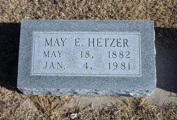 HETZER, MAY E - Kearny County, Kansas | MAY E HETZER - Kansas Gravestone Photos