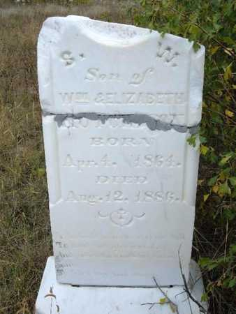 HUTCHESON, S W - Kearny County, Kansas | S W HUTCHESON - Kansas Gravestone Photos