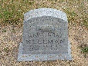 KLEEMAN, CARL - Kearny County, Kansas | CARL KLEEMAN - Kansas Gravestone Photos