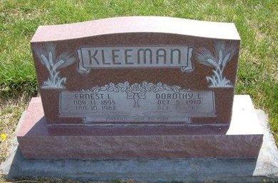 KLEEMAN, ERNEST L - Kearny County, Kansas | ERNEST L KLEEMAN - Kansas Gravestone Photos