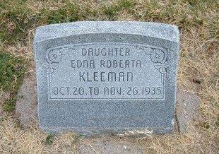 KLEEMAN, EDNA ROBERTA - Kearny County, Kansas | EDNA ROBERTA KLEEMAN - Kansas Gravestone Photos