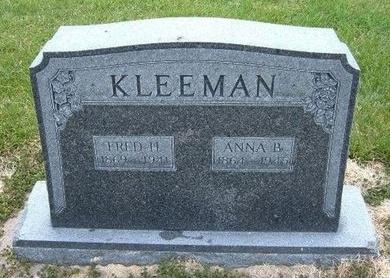 KLEEMAN, FRED H - Kearny County, Kansas | FRED H KLEEMAN - Kansas Gravestone Photos