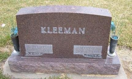 KLEEMAN, MARY E - Kearny County, Kansas | MARY E KLEEMAN - Kansas Gravestone Photos