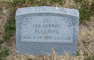 KLEEMAN, LEO HERMAN - Kearny County, Kansas | LEO HERMAN KLEEMAN - Kansas Gravestone Photos