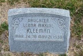 KLEEMAN, LEONA MAXINE - Kearny County, Kansas | LEONA MAXINE KLEEMAN - Kansas Gravestone Photos