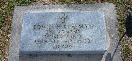 KLEEMAN, EDWIN H   (VETERAN WWII POW) - Kearny County, Kansas   EDWIN H   (VETERAN WWII POW) KLEEMAN - Kansas Gravestone Photos