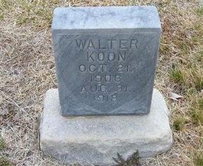 KOON, WALTER - Kearny County, Kansas   WALTER KOON - Kansas Gravestone Photos